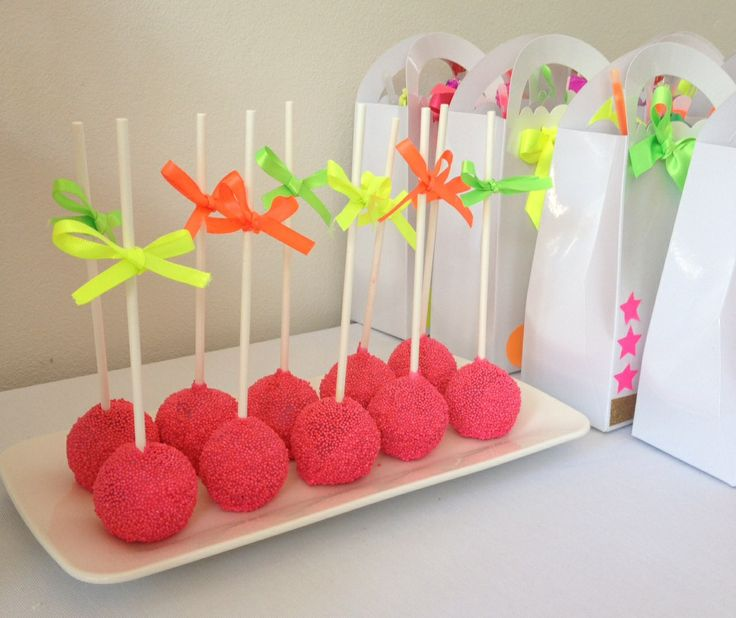 Neon Party Pops FOOD