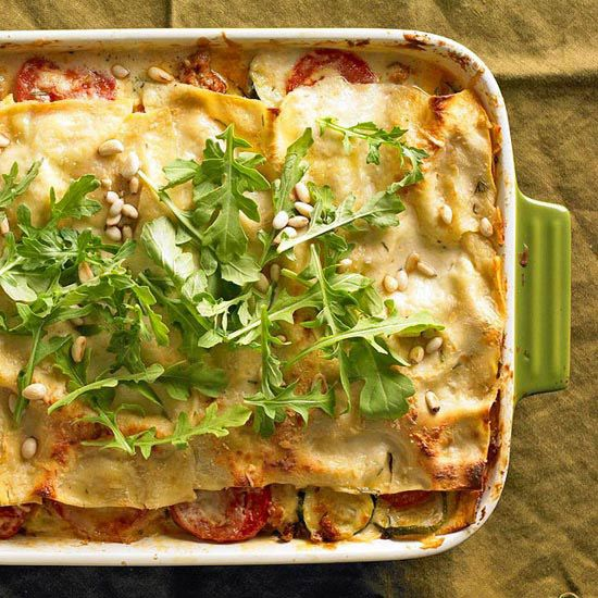 Roasted zucchini lasagna from the better homes and gardens must have recipes app food for Better homes and gardens lasagna