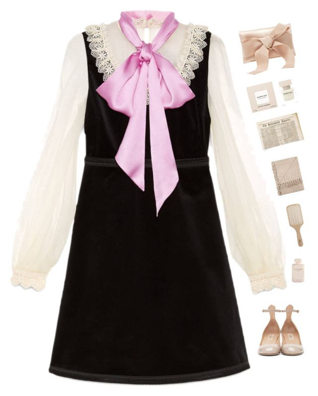 """""""Bows """" by genesis129 ❤ liked on Polyvore featuring Gucci, Valentino, Philip Kingsley, Oscar de la Renta, Narciso Rodriguez, Elie Saab and vintage"""