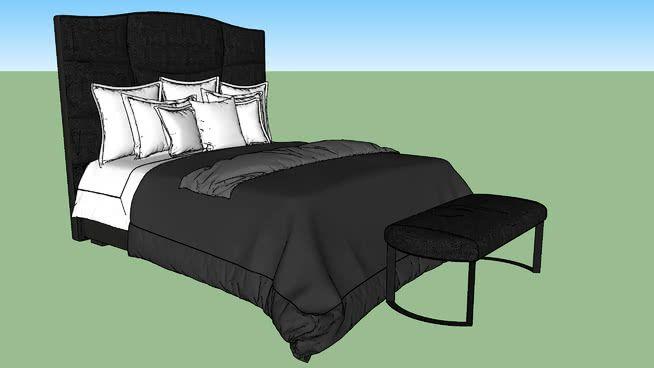bedding ensemble with throw blanket #3dmodels