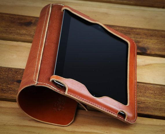 Leather iPad2 or 3 case by richphillipsleather on Etsy, $175.00