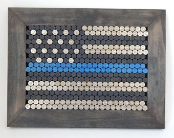 Thin Blue Line for police or law enforcement by EndofDaysDesign