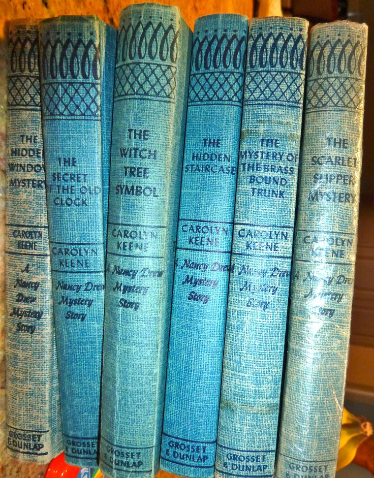 Nancy Drew book collection, blue book collection, Instant book collection