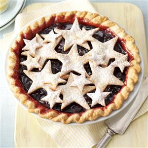 County Fair Cherry Pie Recipe -This cherry pie is so easy! I'm a teacher and a Navy wife, so simplicity and quickness are both mealtime musts at our house. —Claudia Youmans, Virginia Beach, Virginia