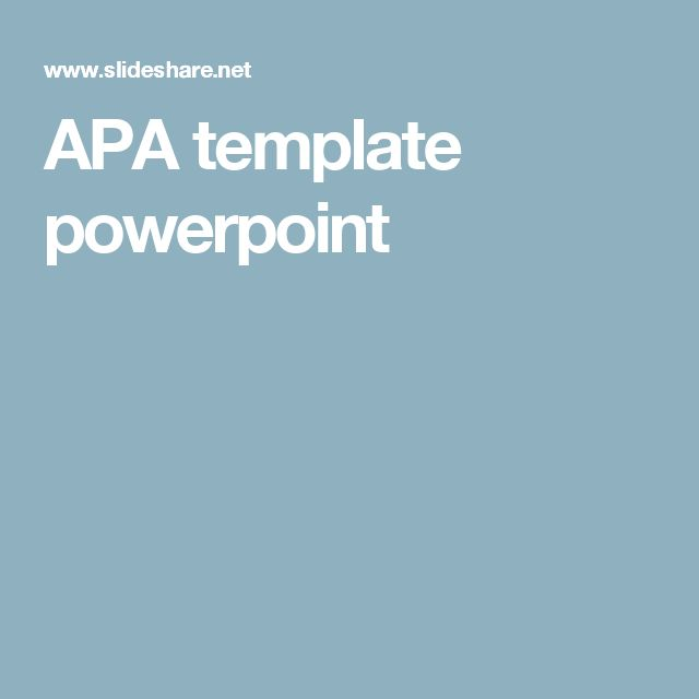 APA template powerpoint