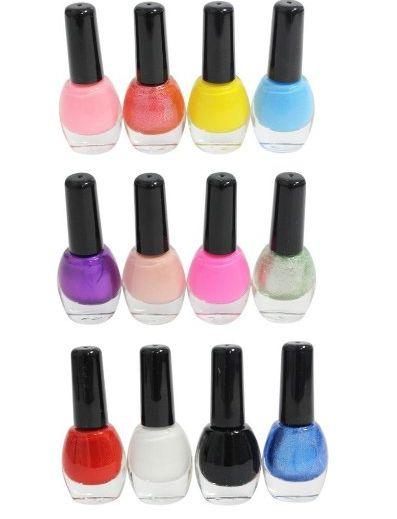 Set di 12 Smalti per le Unghie Assortiti Mix di Colori Professionali Alla Moda di Alta Qualita in Bottigliette da 10ml di Kurtzy TM