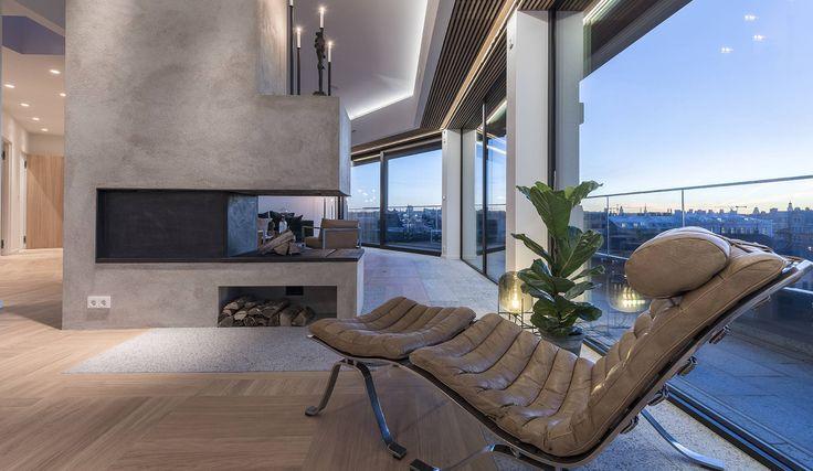 Penthouse - Banérgatan 10, Stockholm | Fotograf: Henrik Nero #penthouse #banergatan #östermalm #stockholm #vindsvåning #henriknero