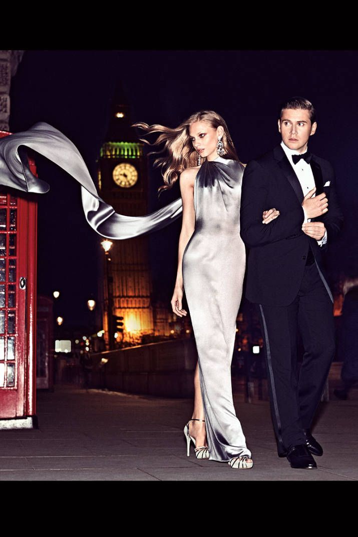 Downton Abbey actor Allen Leech and Anna Selezneva bring American fashion to the British city streets. See the full shoot now.