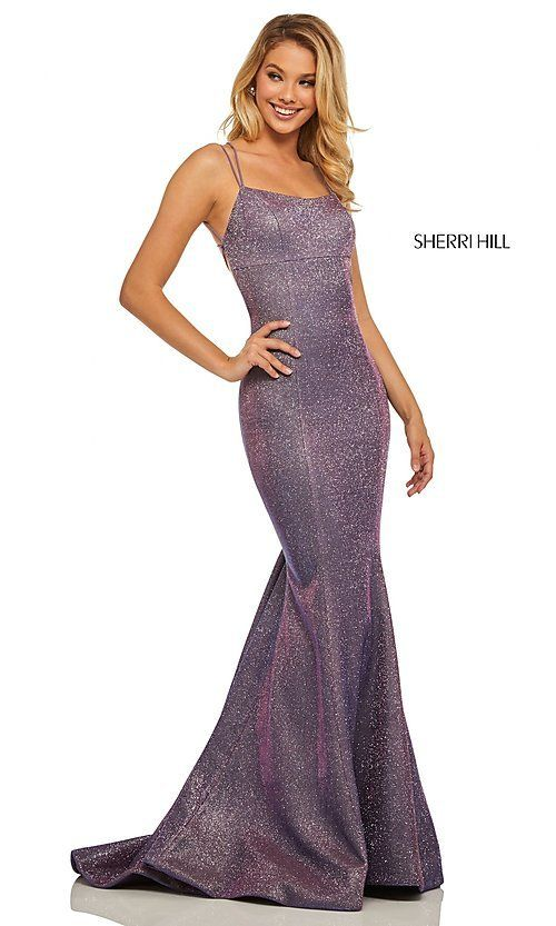 a3297b5634b90 Corset-Back Long Shimmer Prom Dress by Sherri Hill in 2019 | My prom ...