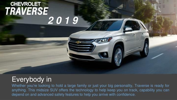 Check Out Whata S New In 2019 Chevrolet Traverse With Westside