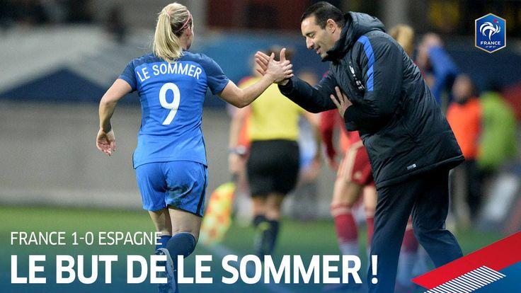 Les Bleues se sont imposées 1-0 hier soir contre l'Espagne grâce à cette galette de Camille Abily pour la tête d'Eugénie Le Sommer!