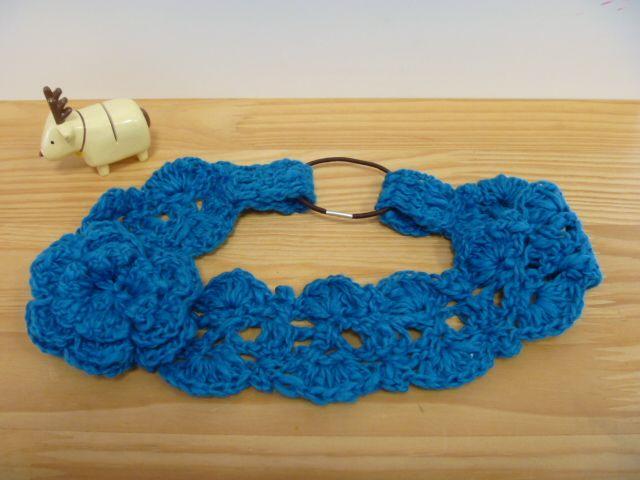大人の花付き** ヘアバンド★の作り方|編み物|編み物・手芸・ソーイング|作品カテゴリ|アトリエ