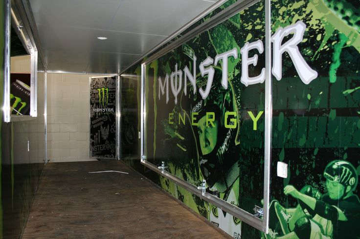Promotional trailer interior wrapped with digitally printed graphics www.rocketsigns.co.za