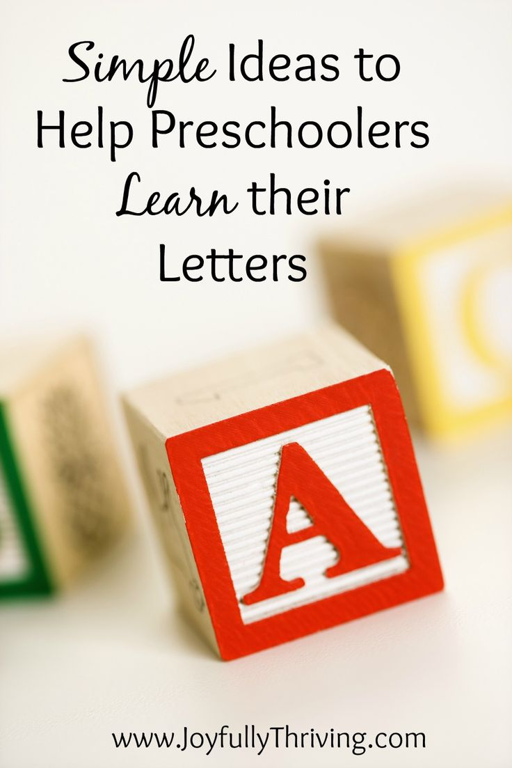 Simple Ideas to Help Preschoolers Learn their Letters - Great list by a preschool teacher and mom! Includes a free printable and little prep for all these letter activities!