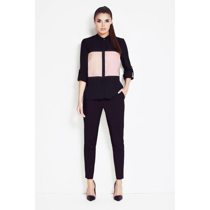 Camasa dama neagra cu model roz  #camasidama #camasidamaoffice