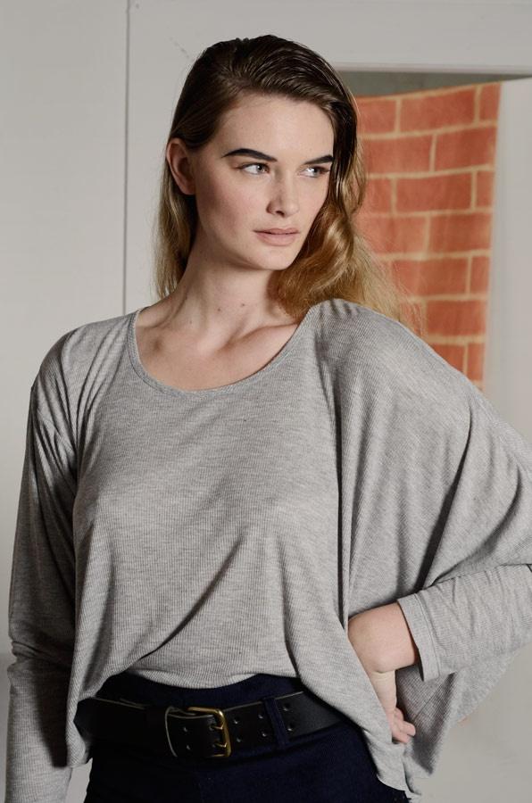 Manteau Sweater in grey
