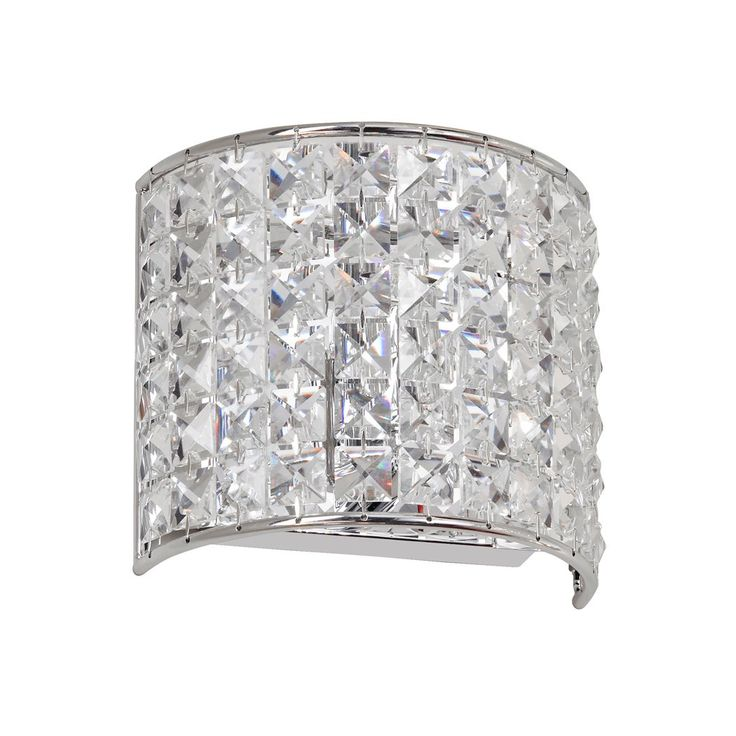 Dainolite Lighting V677-1W-PC Crystal Bathroom Light Polished Chrome - Lighting Universe  sc 1 st  Pinterest : bathroom lighting crystal - azcodes.com