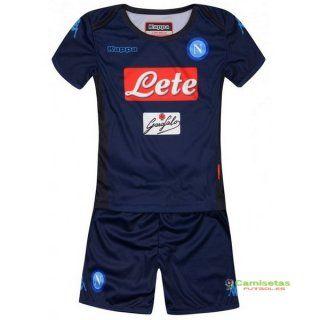 a637226de4e9c Napoli Tercera Nino Conjunto Completo Casa Camiseta 2018 19 ...
