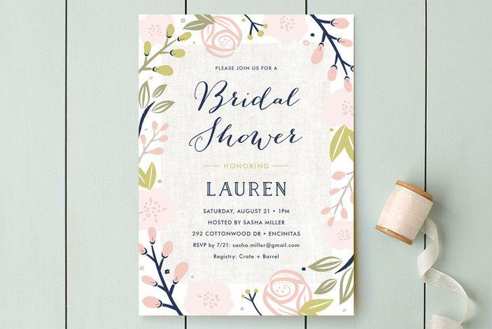 'Spring Shower' bridal shower invitation