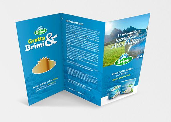 """Brimi, Centro Latte di Bressanone, produttore dell'unica mozzarella con latte 100% Alto Adige: campagna promozionale in doppia lingua per la In Store Promotion legata al concorso """"GrattaBrimi"""". FOLDER CONCORSO #grattaebrimi. #Brimi #madeinmilk #advertising #adv #POPAdvertising #Point-of-Purchase #POPDisplays #POPmarketing https://www.behance.net/gallery/18066879/Milk-adv-progetta-il-concorso-in-store-di-Brimi"""