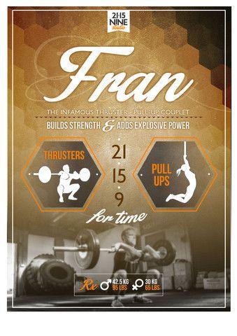 The GIRLS WOD Poster - Fran