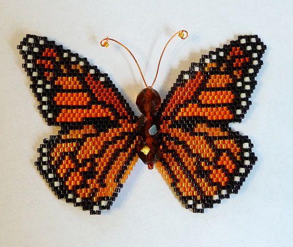 Tutorial e modello di farfalla monarca PDF di WizardIslandDesigns