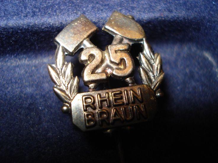 ANSTECKER – Rhein Braun – Rheinische Braunkohlenwerke RAG – 25 Jahre – 925er AG … – Sebastian Eilers