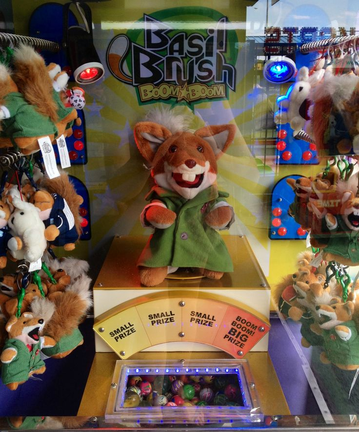 Vintage basil brush fairground machine