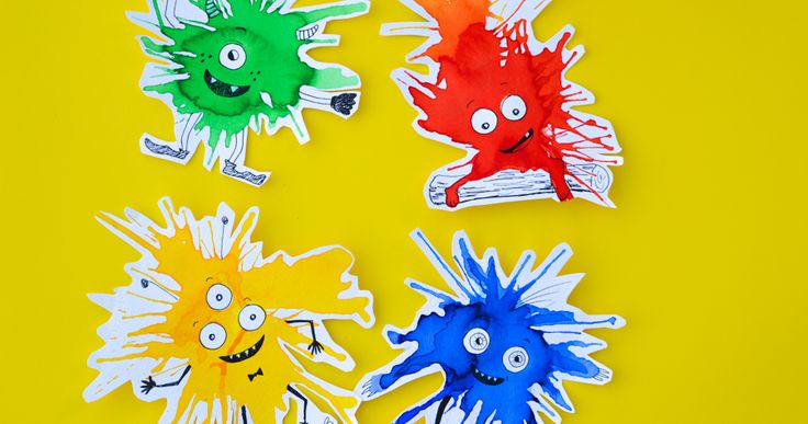 If you like process art and trying new painting techniques, try this watercolour monster craft with kids. The monsters are guaranteed to brighten your day!