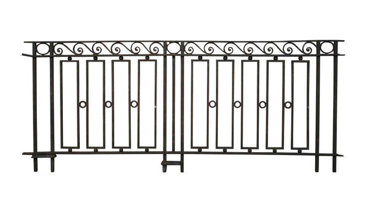 22 METER RUN OF LATE 19TH C. WROUGHT IRON RAILINGS - UK Architectural Heritage