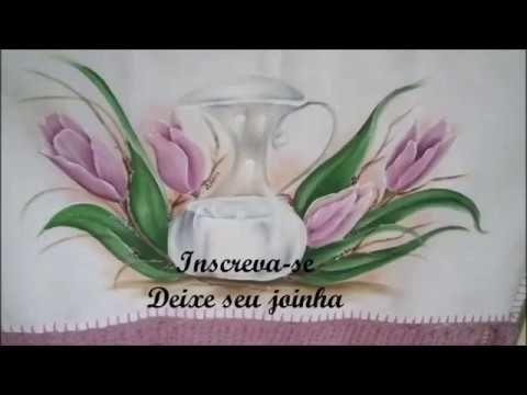 veja como pintar botão de rosa, pintura em tecido - YouTube