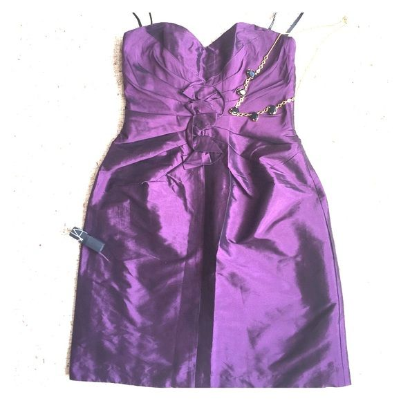 Alexia Admor Strapless Party Dress Fun and flirty purple strapless party dress. Worn once. Alexia Admor Dresses
