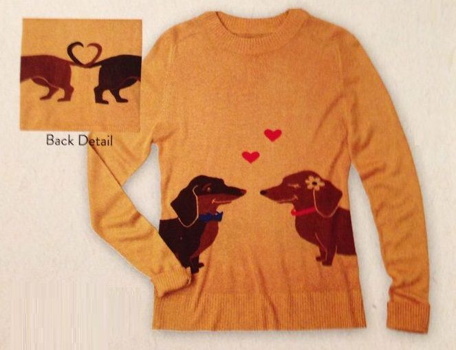Dachshund sweater! I want this piece soooo badly! #dachshund #sweaters #doxies