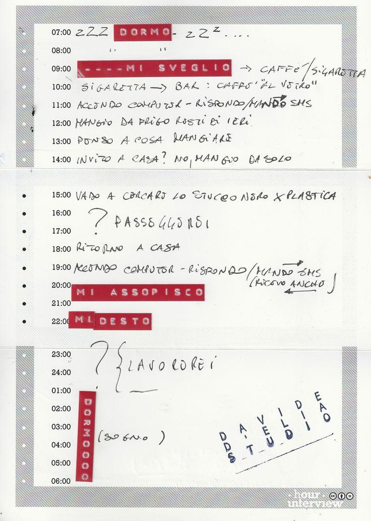 #DavideD'Elia #Form, retro.  18/01/2013 Compilazione con il Dymo