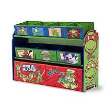 Teenage Mutant Ninja Turtle Deluxe 9-Bin Toy Organizer