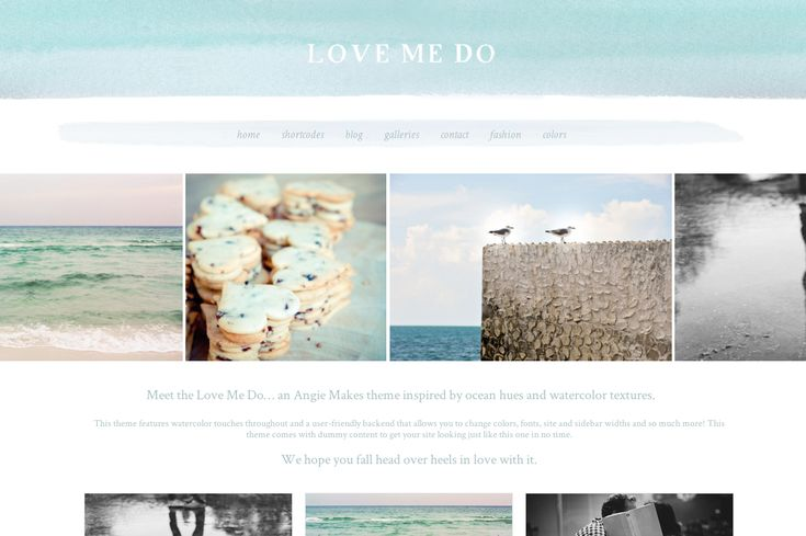 Watercolor Wordpress Theme by Angie Makes. This is a Pretty, Feminine Theme you Can Use for Your Wordpress Website.