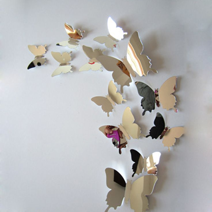 Butterfly Mirror Wall Decoration : Best ideas about butterfly wall stickers on