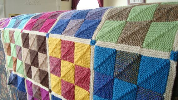 Nine Patch Mitered Square Afghan Pattern Nine D Urso