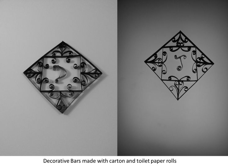 Decorative Bars made with carton and toilet paper rolls