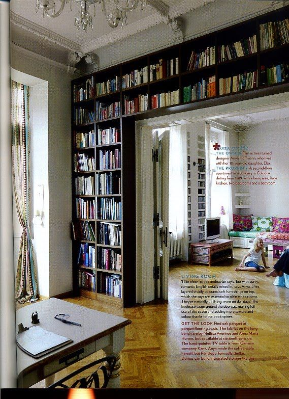 Books and their homes.... source: the Fashion Spot