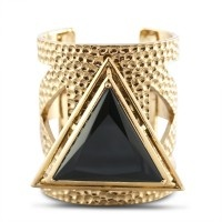 Lotus Mendes Solid Ground Cut Out Cuff - Gold