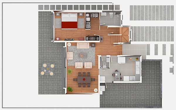 Duplex Floor Plans With Double Garage Duplex Home Plans At