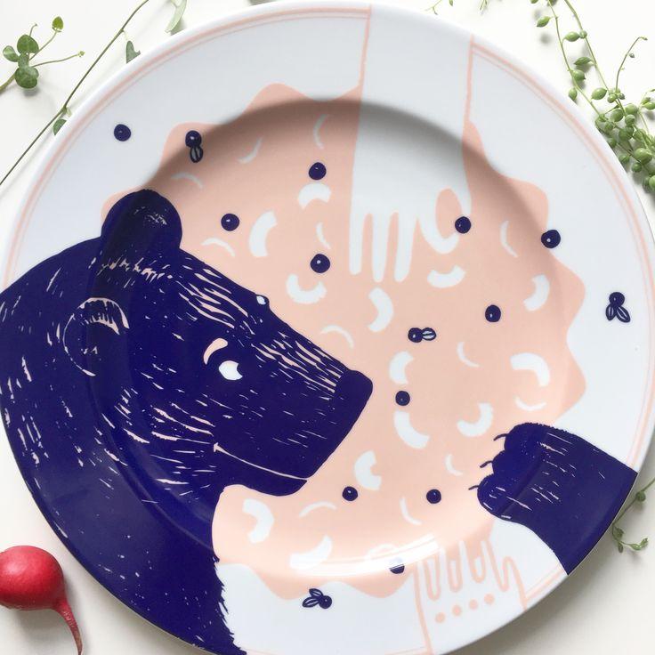 Porcelain plate designed by @malwinakonopacka
