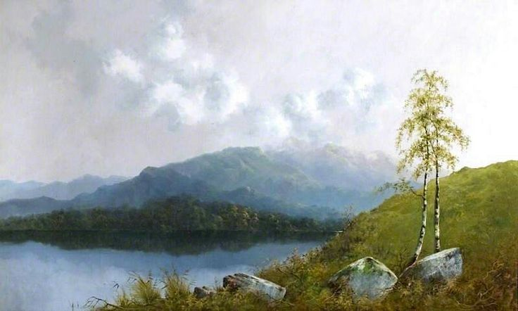 Derwentwater, Cumbria. Samuel John Barnes - 1887.