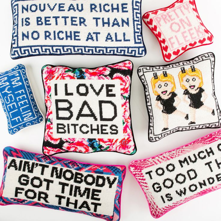Nouveau Riche Needlepoint Pillow