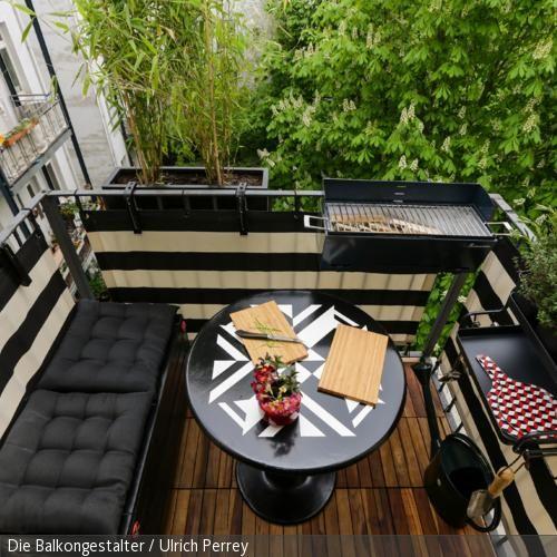 58 besten Balkon \ Dachterrasse Bilder auf Pinterest Balkon - kleinen garten gestalten sichtschutz