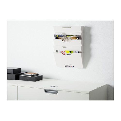 "KVISSLE Wall magazine rack  - IKEA Length: 18 "" Width: 13 ½ "" Depth: 3 ½ """