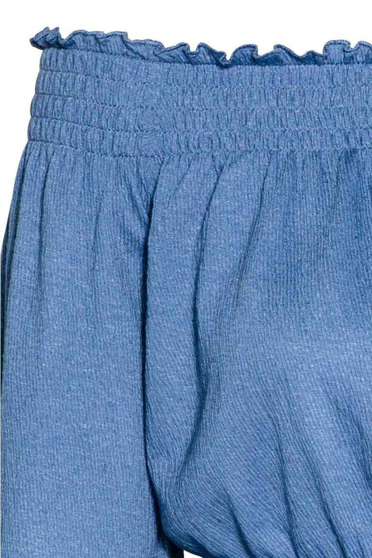 Omuzları Açık Üst - Mavi/Çizgili - Ladies   H&M TR