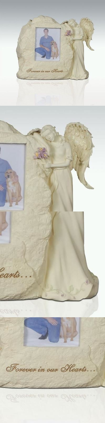 Pet Memorials and Urns 116391: Perfect Memorials Forever In Our Hearts Angel With Picture Pet Cremation Urn BUY IT NOW ONLY: $69.95
