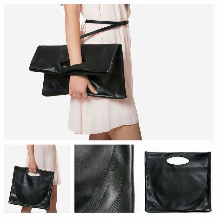 """Paris"" leather clutch"